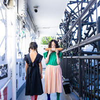 """【 franky grow 2020SS 】19SOP-154 BACK SHAN FRILL DRESS DYED """" ワンピース """" / GREEN-PINK"""
