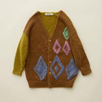 "【 eLfinFolk 20AW 】jura knit  cardigan (elf-202K25)""カーディガン"" / camel"