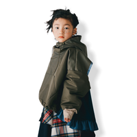 【 nunuforme 21AW 】フリルミックスパーカー / 69-nf16-560-139 / Khaki