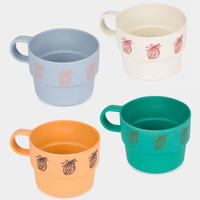 【 Bobo Choses 2020SS 】12070005	Pineapple Bamboo Cup Pack of 4
