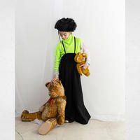 """【 franky grow 21AW 】DOUBLE KNIT WIDE OVERALL""""サロペット"""" / ブラック / LL"""