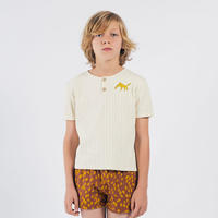 【 Bobo Choses 2020SS 】12001023	Leopard Buttoned T-Shirt