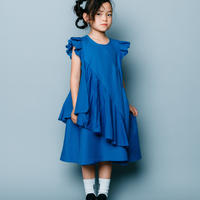【 nunuforme 2020SS 】スクランブルワンピース [nf13-421-013A]  / Blue / 155cm , F(レディース)