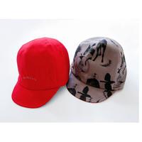 "【 michirico 21SS 】michirico reversible cap (MR21SS-22)"" キャップ "" / ピーカブーヤ限定カラー ""レッド"""