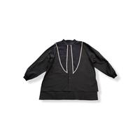 【 nunuforme 21AW 】セーラーブラウス / 05-nf16-574-012A / Charcoal