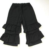 【 UNIONINI 2018AW 】 PT-058 gauze frill pants  / black / 10-12Y