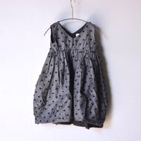 "【 franky grow 2020SS 】19SOP-148 BONBON CUT JQ V-NECK DRESS "" ワンピース "" / GRAY*BK BONBON"