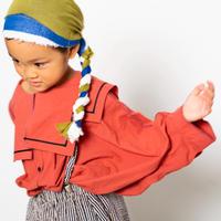"【 folk made 21SS 】sailor collar shirts "" カラーシャツ "" / brick red / S-M"