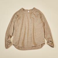 "【 MOUN TEN. 21AW 】washable wool longsleeve ""ロングTシャツ"" / モカ / 110-140cm"