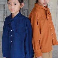 【 SWOON 21SS 】スカーフカラーオーバーシャツ [06-sw15-508-023] / Blue