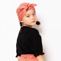 "【 folk made 21SS 】face print turban "" ターバン "" / pink rose /  F(レディースサイズ)"