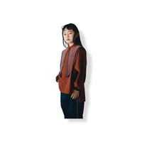 【 nunuforme 21AW 】セーラーブラウス / 05-nf16-574-012A / Brown / レディース