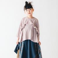 【 nunuforme 2020AW 】タックフリルT [25-nf14-967-500A] / Pink / 大人