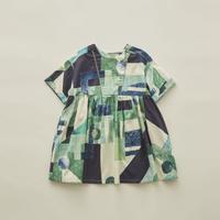 【 eLfinFolk 2020SS 】elf-201F01 Maghreb dress / green / 90-100cm
