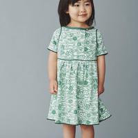 """【 ミナペルホネン 20SS 】YS8045P  sieste """" ワンピース """" / light green / 90cm - 100cm"""