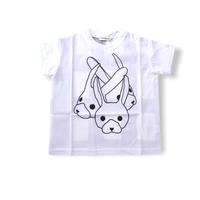 "【 franky grow 21SS 】RABBIT MIX TEE [21SCS-381] "" Tシャツ "" / WHITE / LL(9〜11歳)"