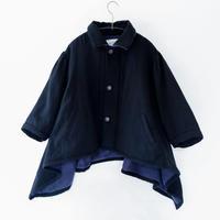 【 michirico 20AW 】MR20AW-06 front pocket sweats / ブラック / 115 - 130cm