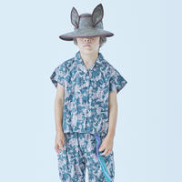 "【 eLfinFolk 21SS 】Leaf paisley open collar shirts(elf-211F25)""カラーシャツ"" / green / 100-130"
