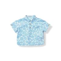 """【 ミナペルホネン 21SS 】ZS1084P biscotto """" カラーシャツ""""  / blue  / 110-140cm"""