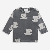 """【 BOBO CHOSES 21AW 】Cup Of Tea All Over long sleeve T-shirt(221AB030) """"ロンT"""""""