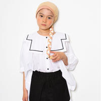 "【 folk made 21SS 】sailor collar shirts "" カラーシャツ "" / white / S-M"
