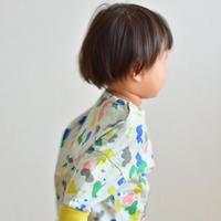 """【 ミナペルホネン 21AW 】ZA8157P smile drop """"ロンT"""" / light mix / 110-140cm"""
