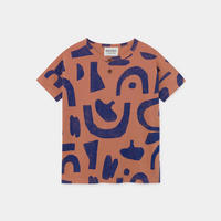 【 Bobo Choses 2020SS 】12001190Abstract Buttoned T-shirt
