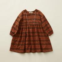 "【 eLfinFolk 20AW 】castle printed dress(elf-202F04)""ワンピース"" / brick red  / size 90-100"