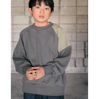 【 SWOON 2020AW 】バイカラースウェットシャツ [7-sw14-814-503] / Charcoal
