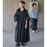 N様専用ページ【 SWOON 2020AW 】ドローストリングギャザードレス [5-sw14-404-115A] / Navy / 大人