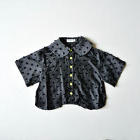 "【 franky grow 2020SS 】19SSH-047 BONBON CUT JQ WAVE HEM BLOUSE "" ブラウス "" / GRAY*BK BONBON"