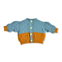 "【 franky grow 20AW 】MULTI COLOR POPCORN CARDIGAN [20FWKTCD-117] "" カーディガン ""  / GRAY-BROWN MULTI"