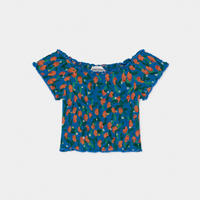 【 Bobo Choses 2020SS 】12001061	All Over Oranges Smoked Top