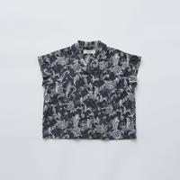 "【 eLfinFolk 21SS 】Leaf paisley open collar shirts(elf-211F25)""カラーシャツ"" / charcoal / 100-130"