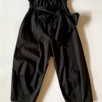 【 folk made 2020SS 】#12 pants with ribbon / black