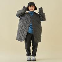 """【 MOUN TEN. 21AW 】quilt mitten coat """"コート"""" / チャコール / 110-140cm"""