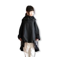 【 nunuforme 2020AW 】フリルミックスパーカー [45-nf14-560-104] / Black