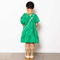 "【 folk made 21SS 】face print dress "" ワンピース "" / green print / LL(140-155)"