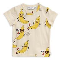 【 mini rodini 2019SS 】20125  Banana aop ss tee / Offwhite
