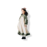 【 nunuforme 21AW 】コンビワンピース / 14-nf16-446-138 / Khaki×White