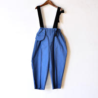 "【 folk made 20AW 】suspenders pants [F20AW-013] "" パンツ "" / blue x black / LL(140-155)"