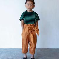 【 folk made 2020SS 】#12 pants with ribbon / brick / LL(140-155)