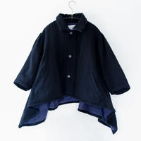 【 michirico 20AW 】MR20AW-18 back fleece coat / ブラック / 100 - 115cm