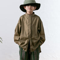 【 MOUN TEN. 2020SS 】80/1 washer big shirts [MT201004-b]  / khaki / 150-160