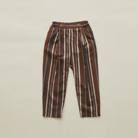 【 eLfinFolk 2020SS 】elf-201F35 regimen stripe pants / brown
