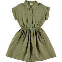 "【 MY LITTLE COZMO 20SS 】DRESS KIDS - LINEN -SANDYK82  "" ワンピース ""  /  KHAKI LINEN  /  3  -  8歳"