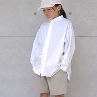【 MOUN TEN. 2020SS 】80/1 washer big shirts [MT201004-a]  / white