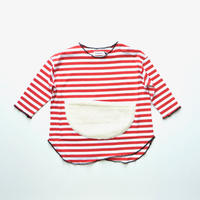 "【 franky grow 20AW 】SLANT BOA POCKET BORDER L/S TEE [20FWCS-370] "" カットソー "" / RED*WHITE / LL(9〜11歳)"