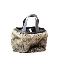 【 MOUN TEN. 20AW 】fur mini bag  [MT202018] / バッグ / silvermix