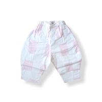 """【 franky grow 21SS 】ORIG. CHECK BIG PANTS [21SBT-235] """" パンツ """" / WHITE-PINK"""